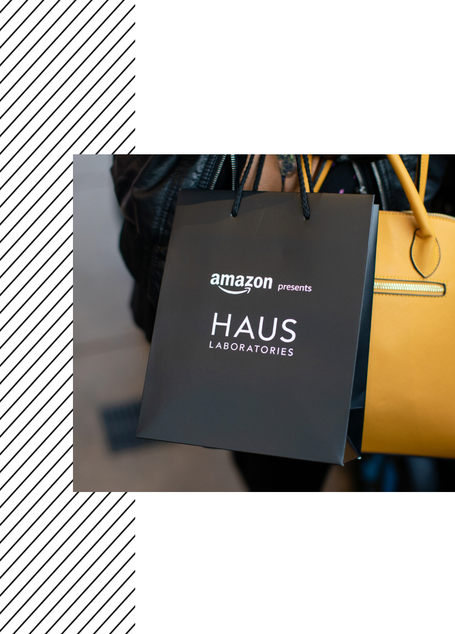 shopping bags for haus labs event design