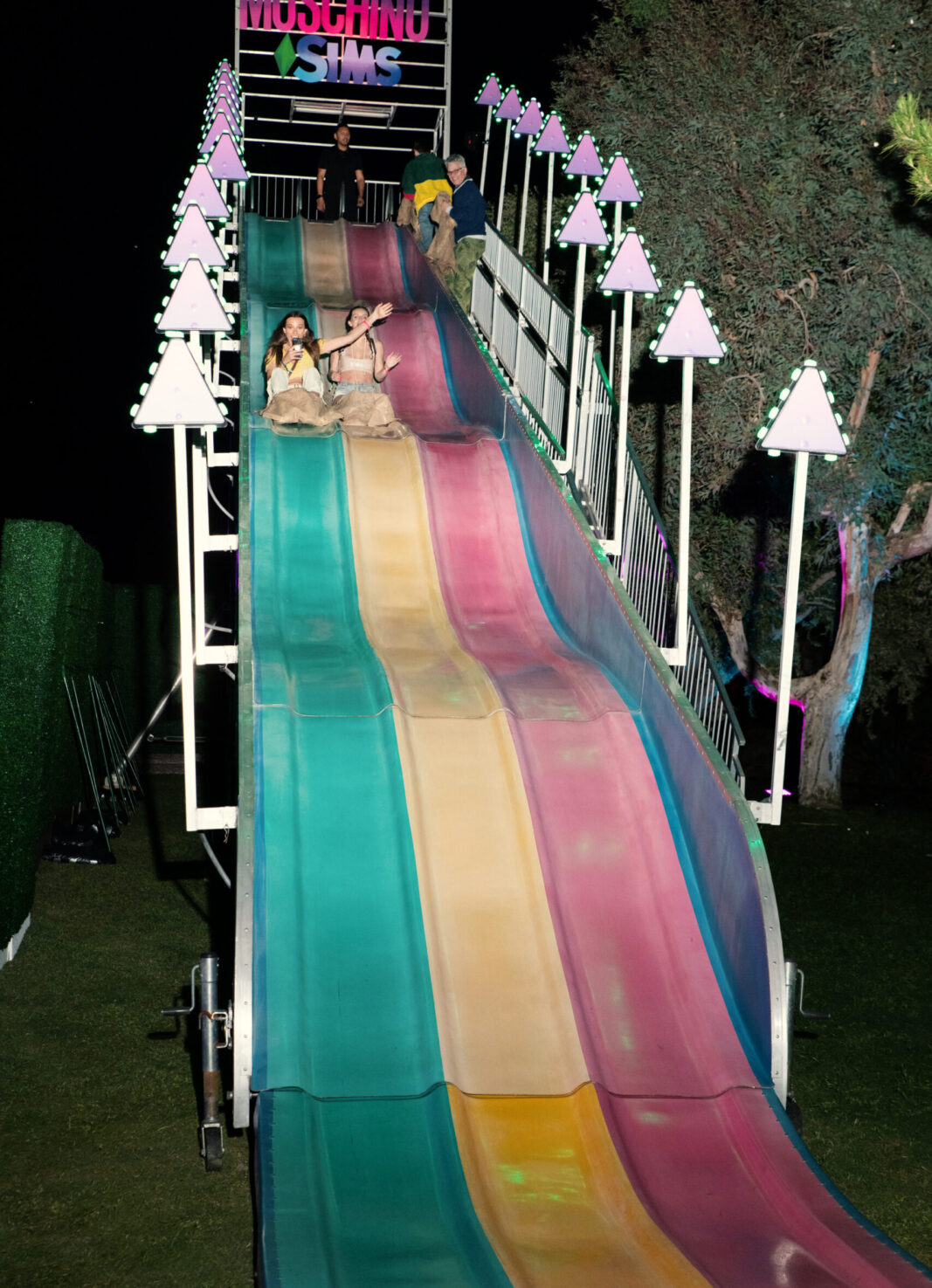 giant slide at sonic block party by marketing agency allied experiential