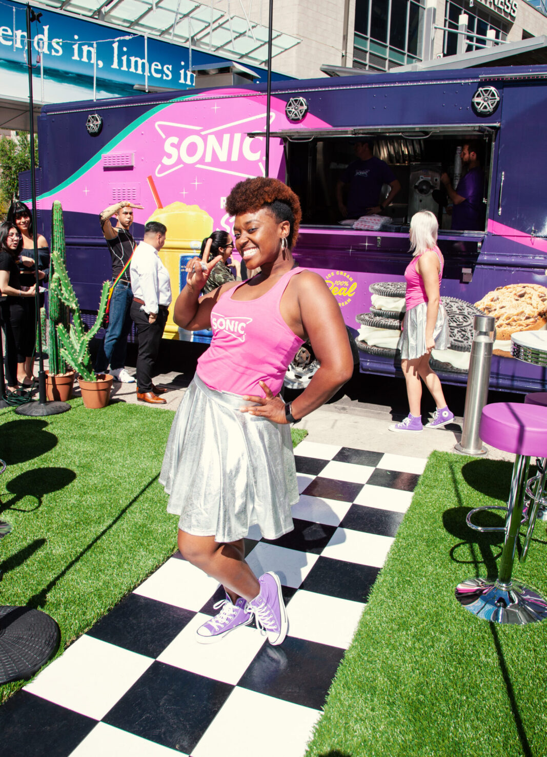 sonic block party food truck by experiential marketing agency