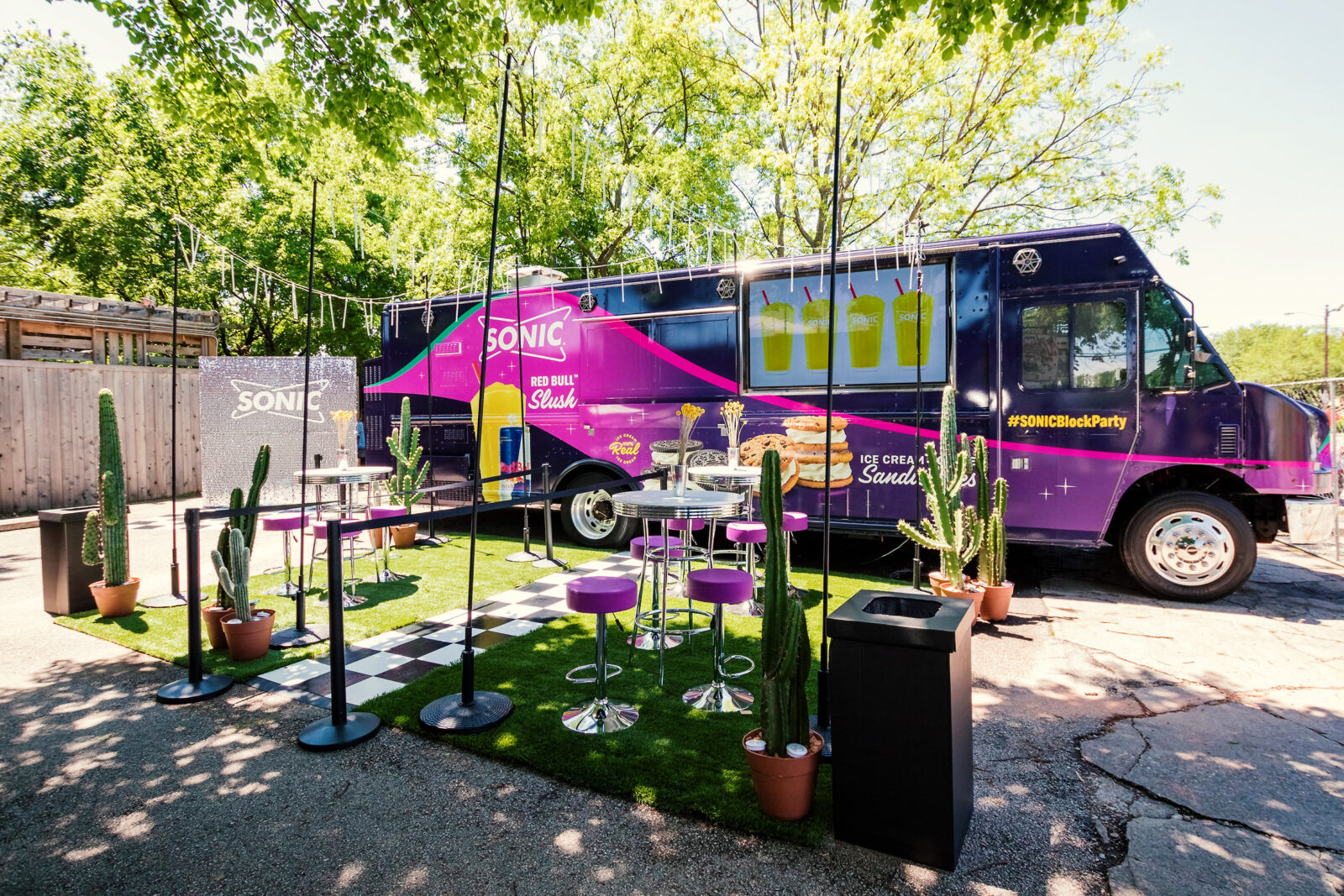 sonic block party food truck by marketing agency