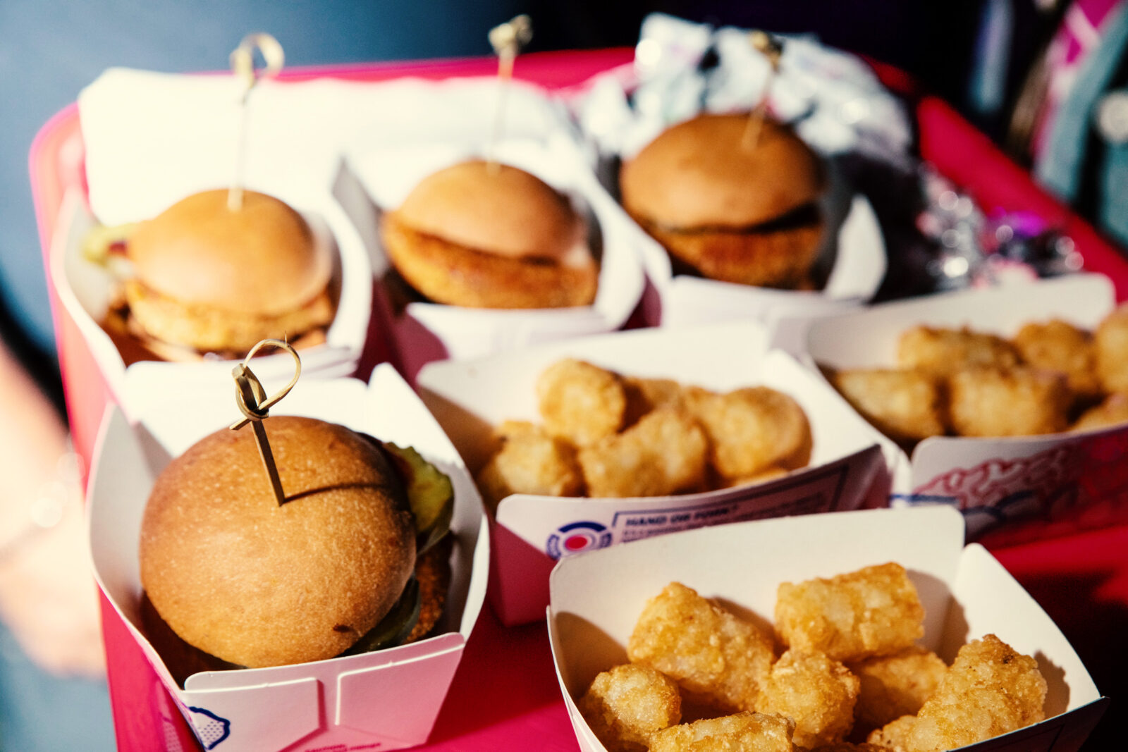sliders and tater tots at sonic experiential marketing event