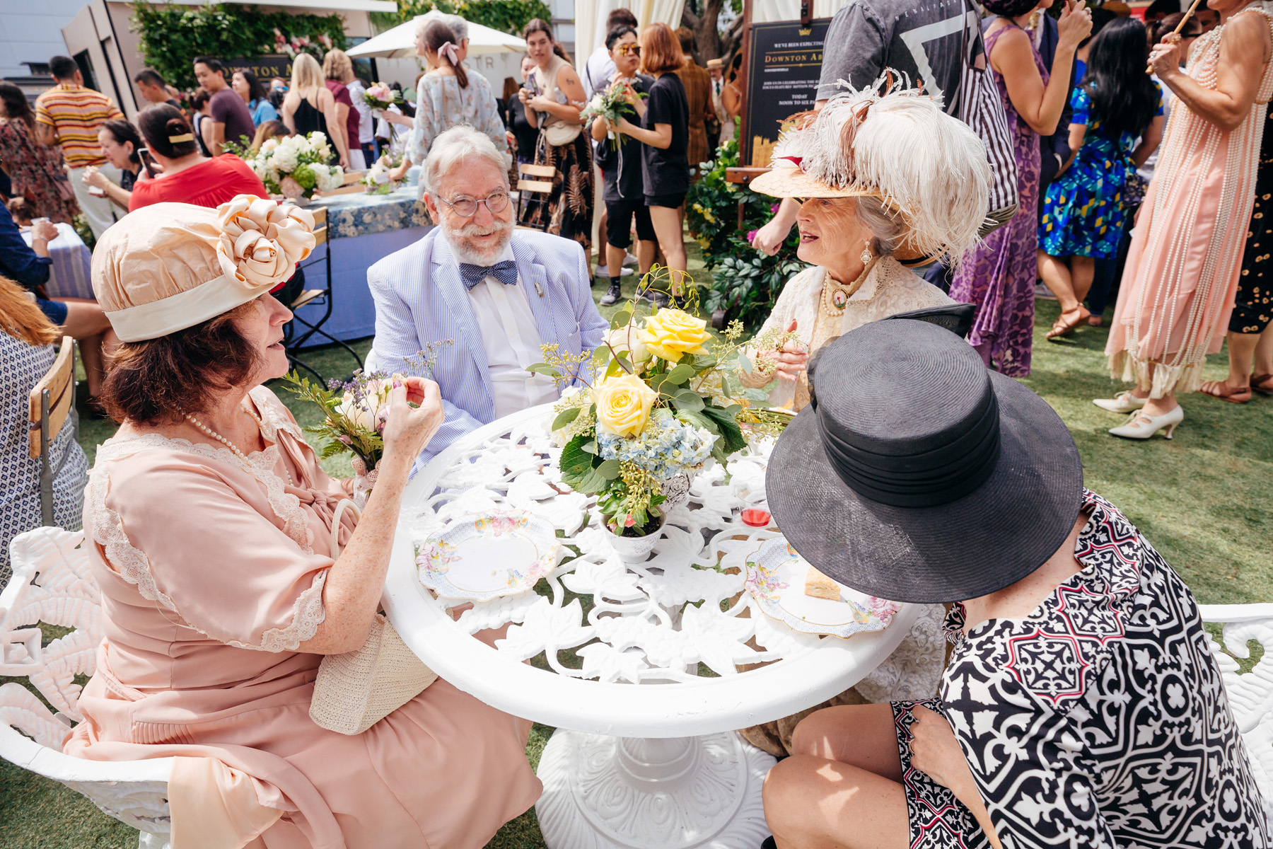 event production company creates downton abbey tea party