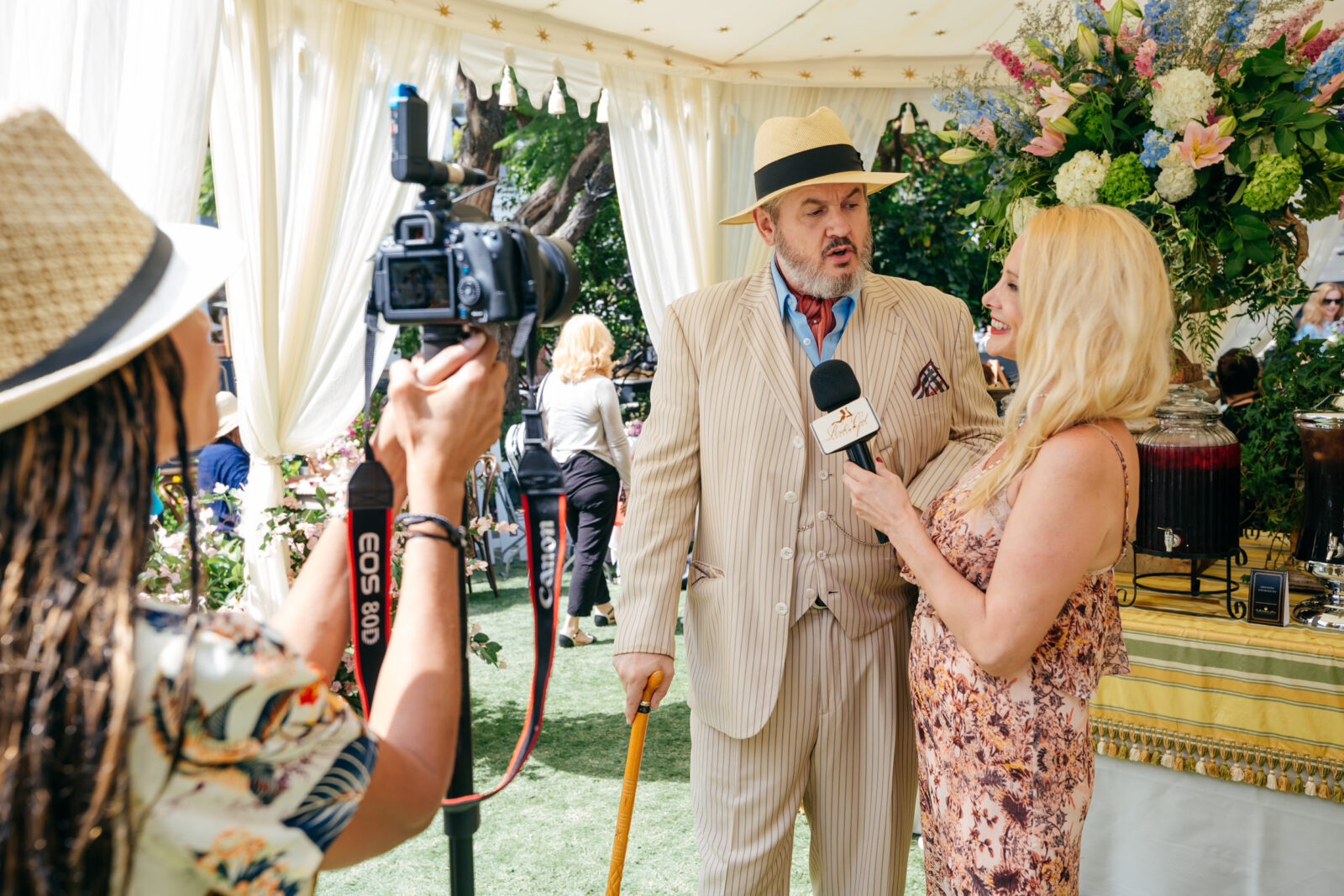 interview at downton abbey tea party event design