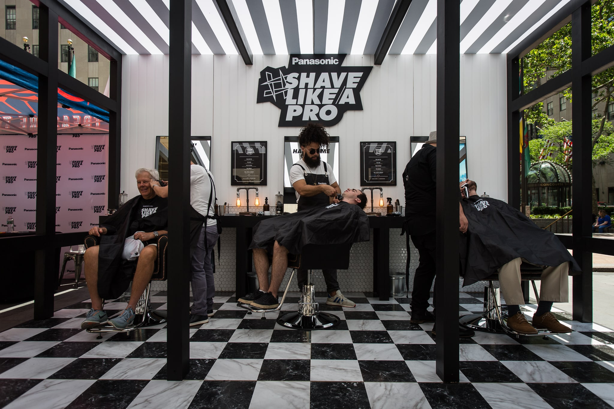 inside the panasonic shave shop by allied experiential