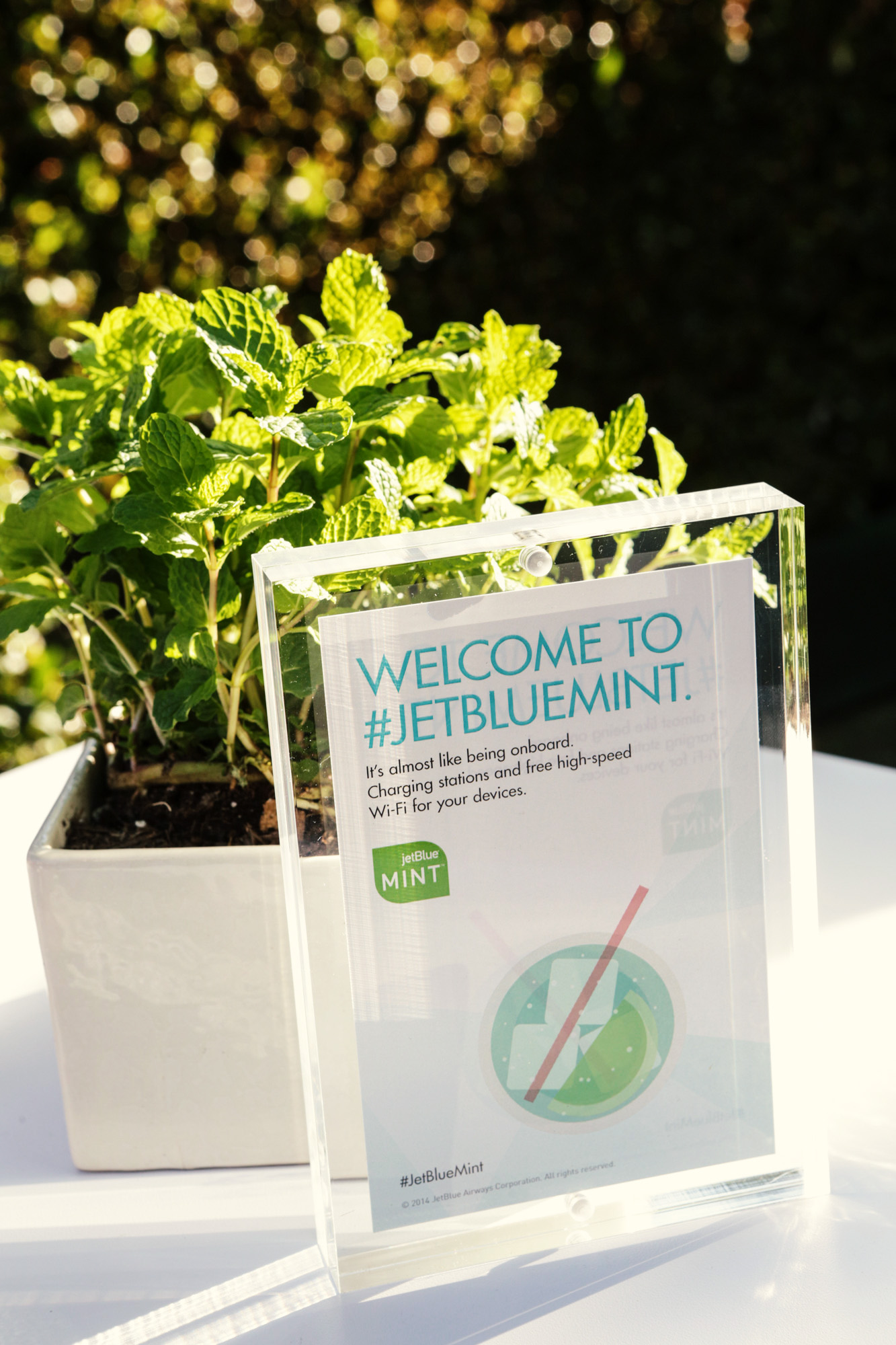 signage for jetblue mint room event planners