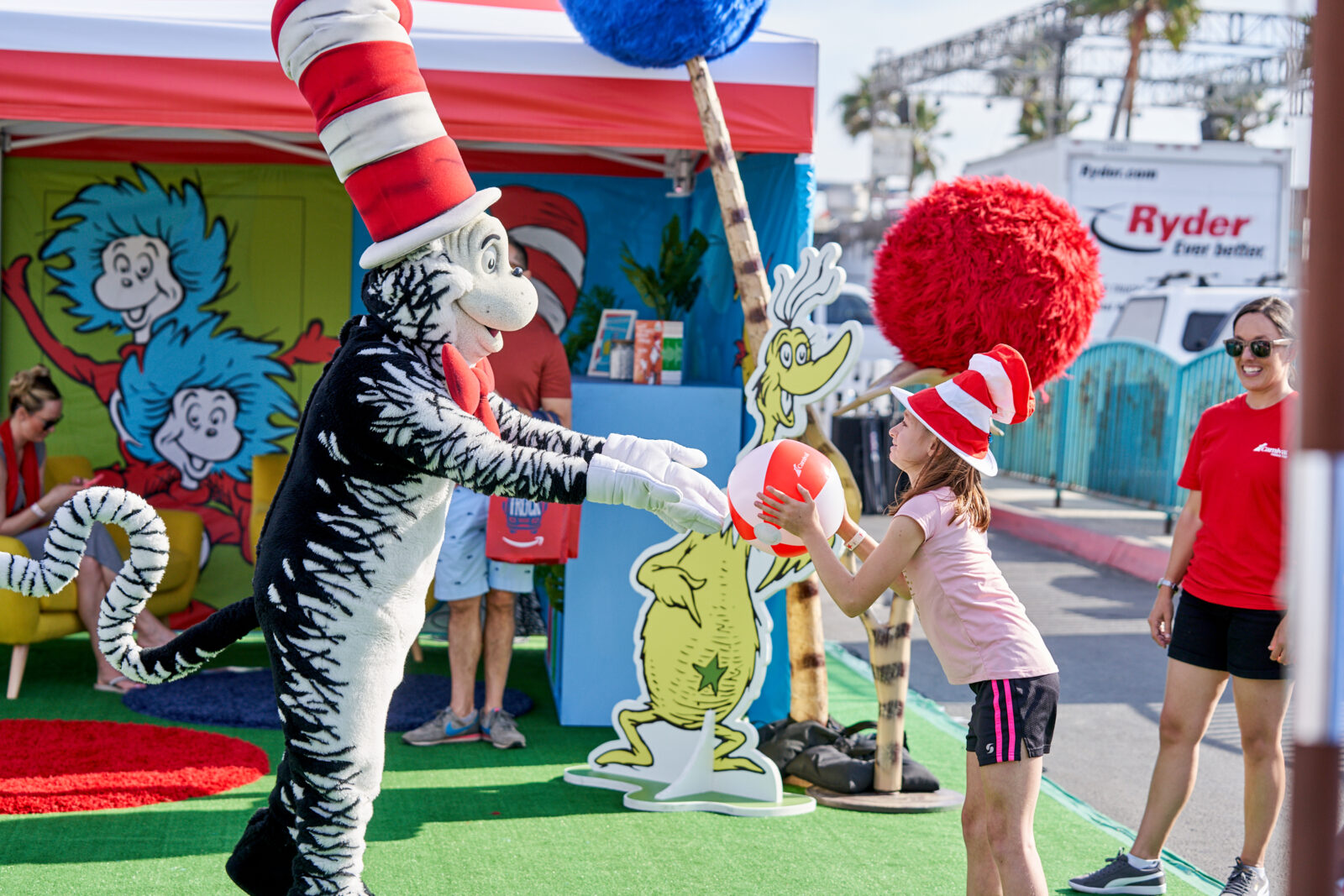 dr seuss activation at carnival panorama