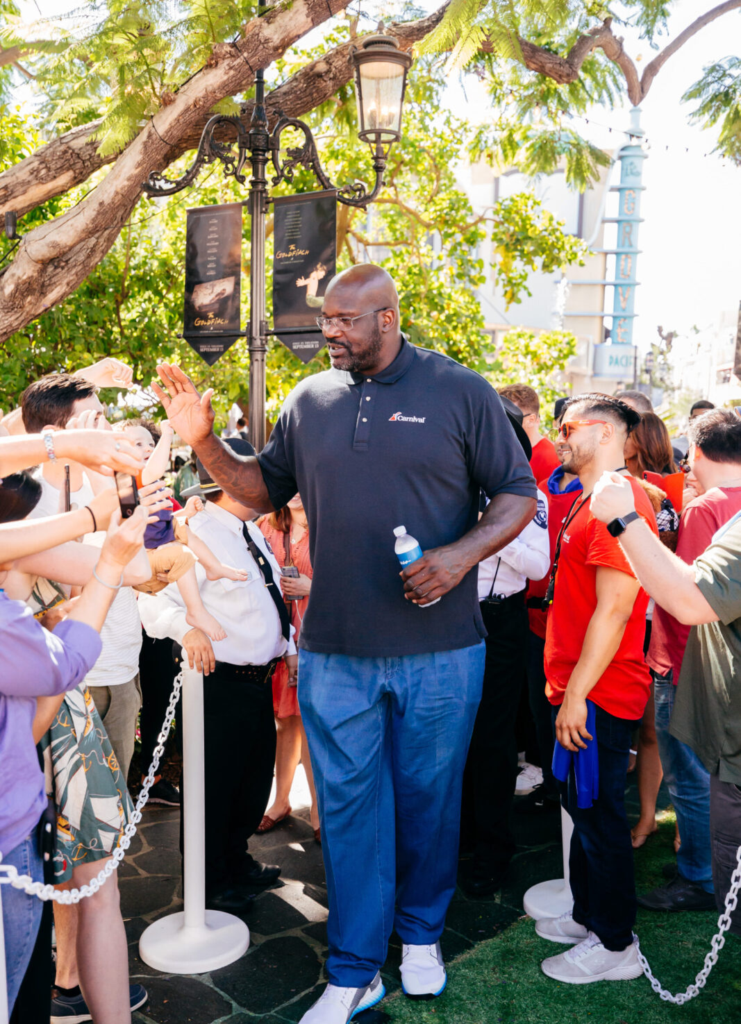 shaq high fiving customers at carnival event production company