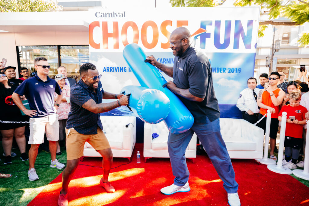 shaq playing at carnival panorama event planners cruise