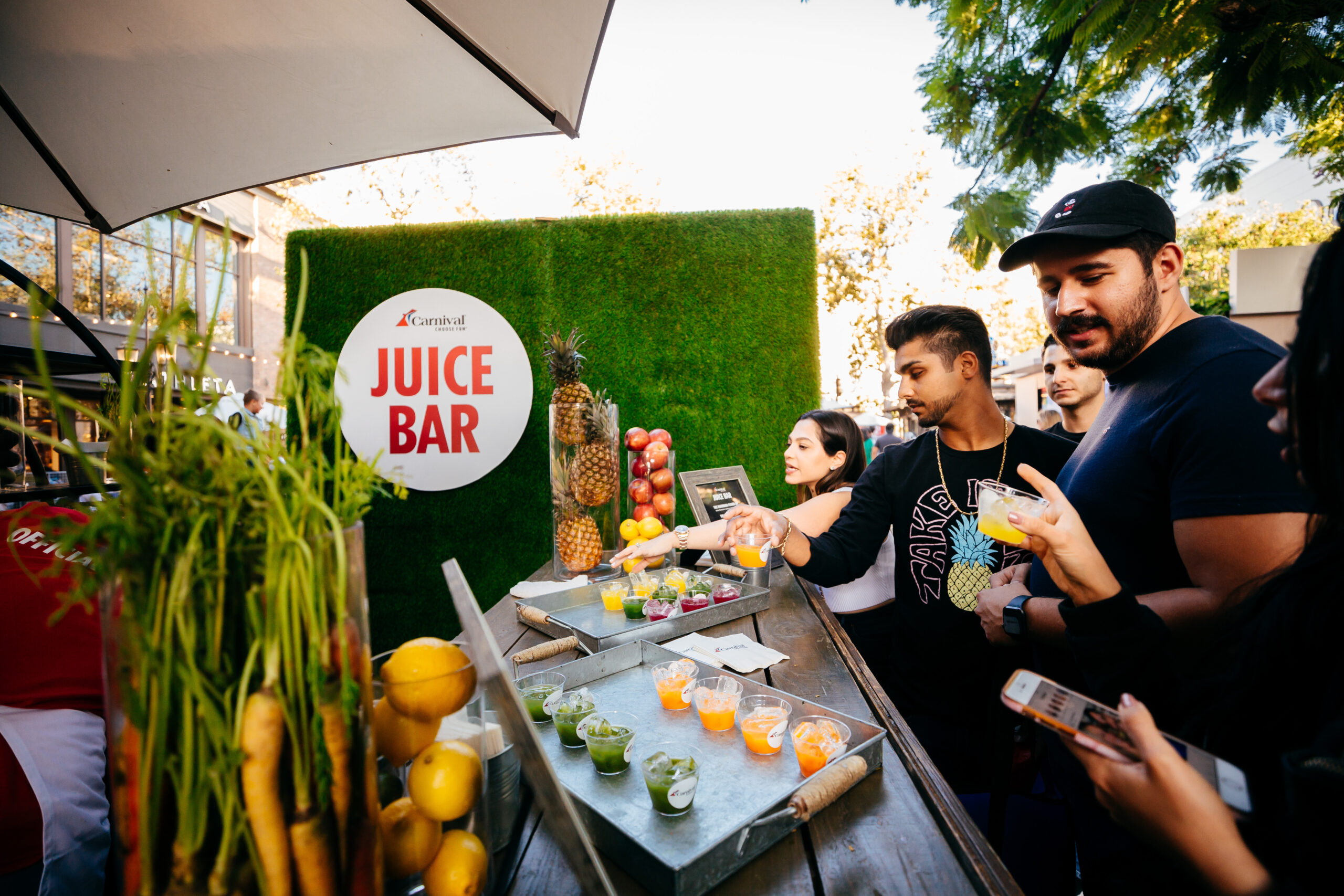 juice bar for carnival event production company