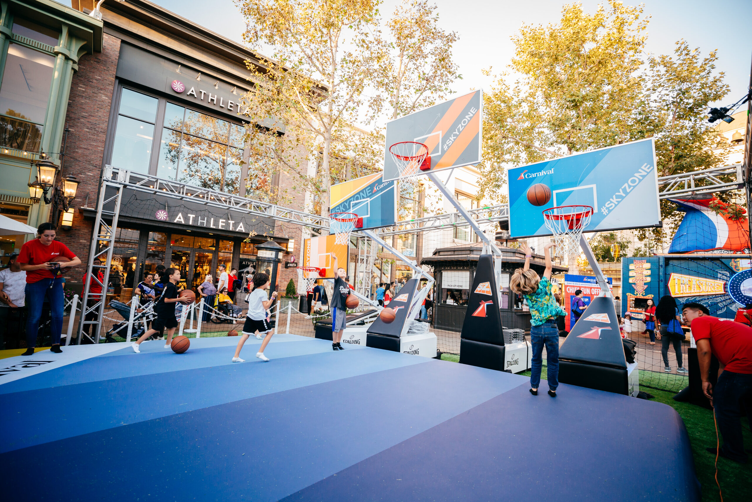 basketbal area at carnival panorama for event production company