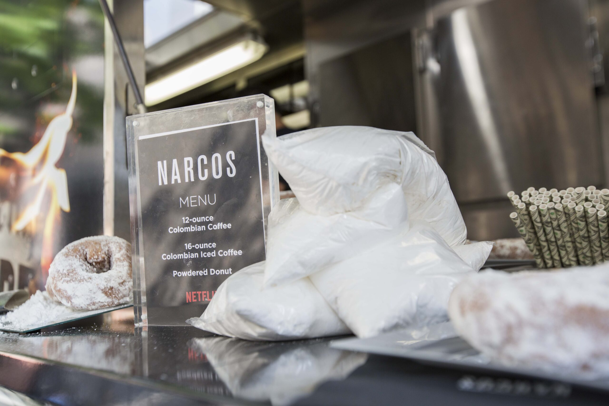 set decoration by marketing agency for narcos