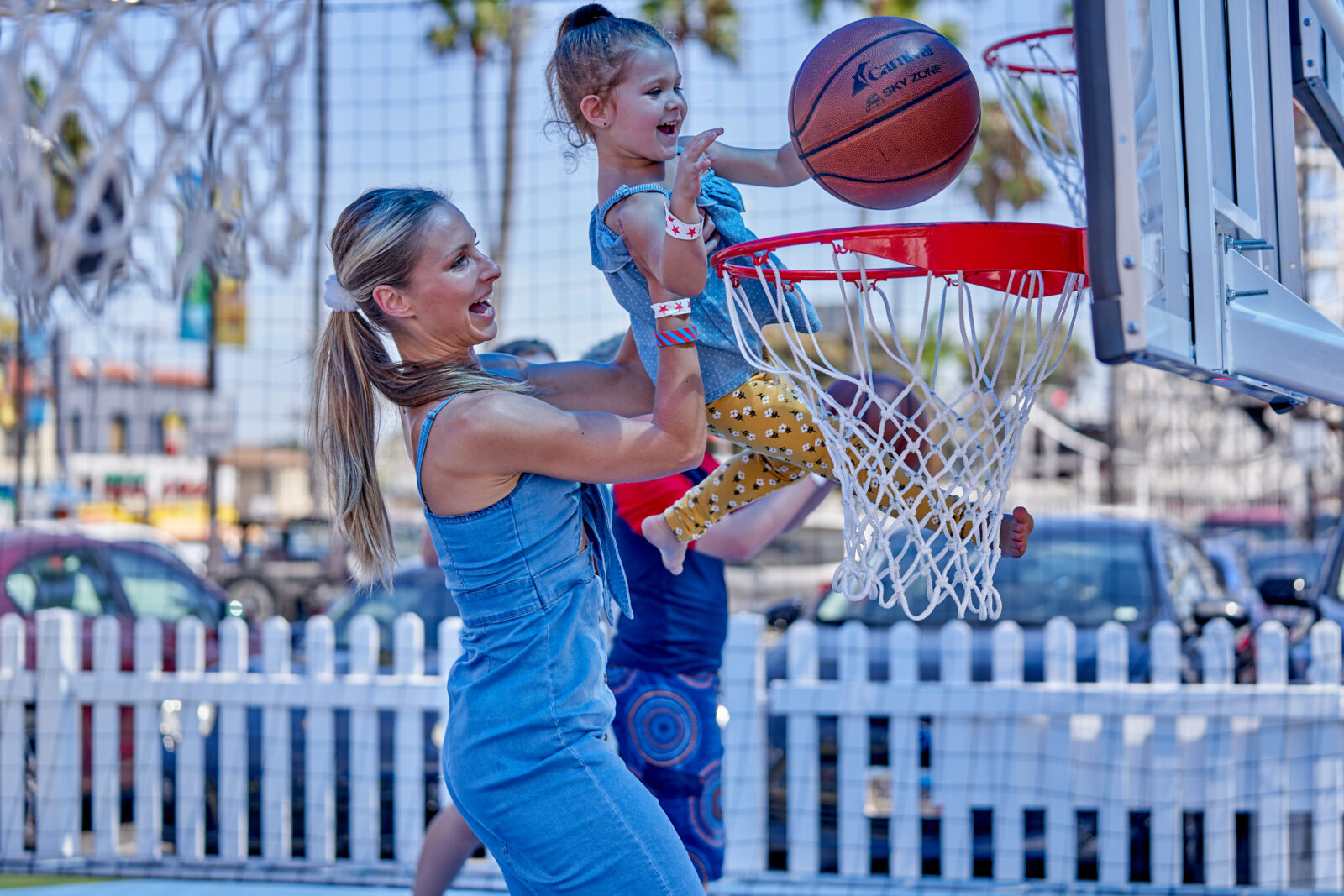 mother and son playing at carnival panorama event planners event