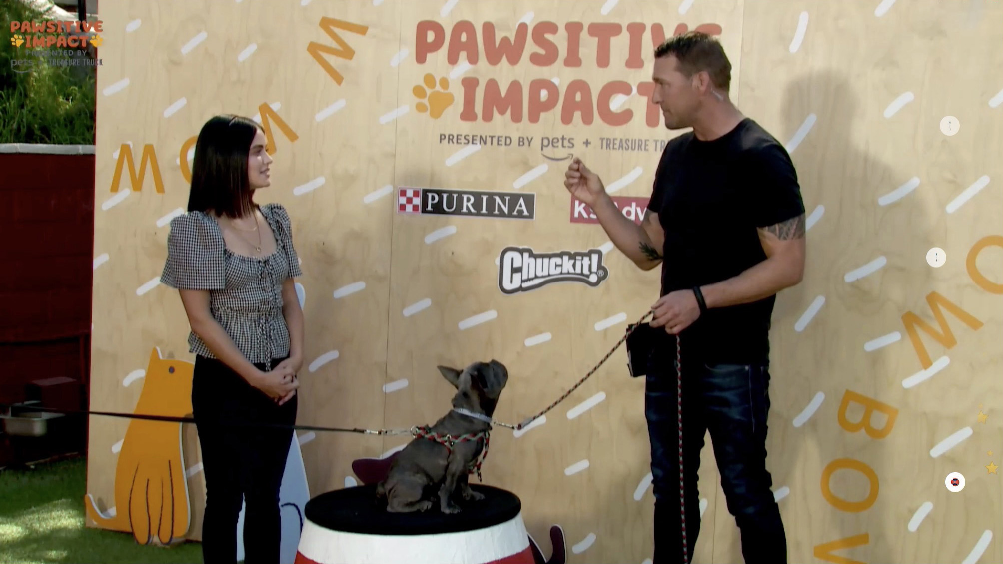 lucy hale at amazon pets virtual event production