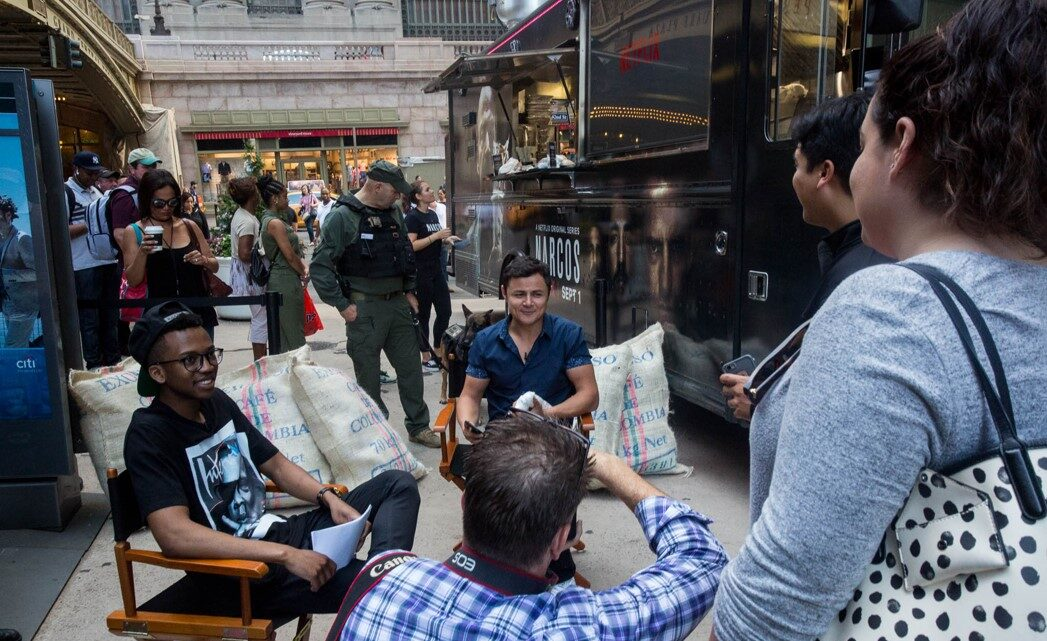 cast interview for narcos food truck mobile tours
