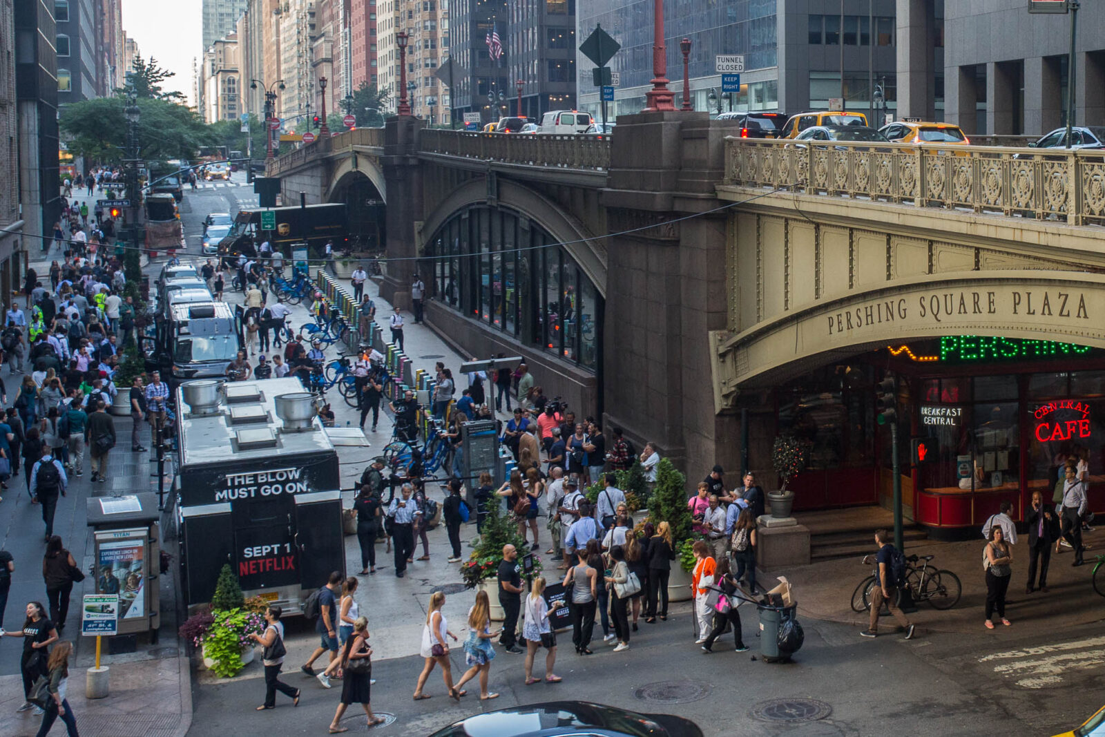 customers in line for the narcos food truck mobile tours