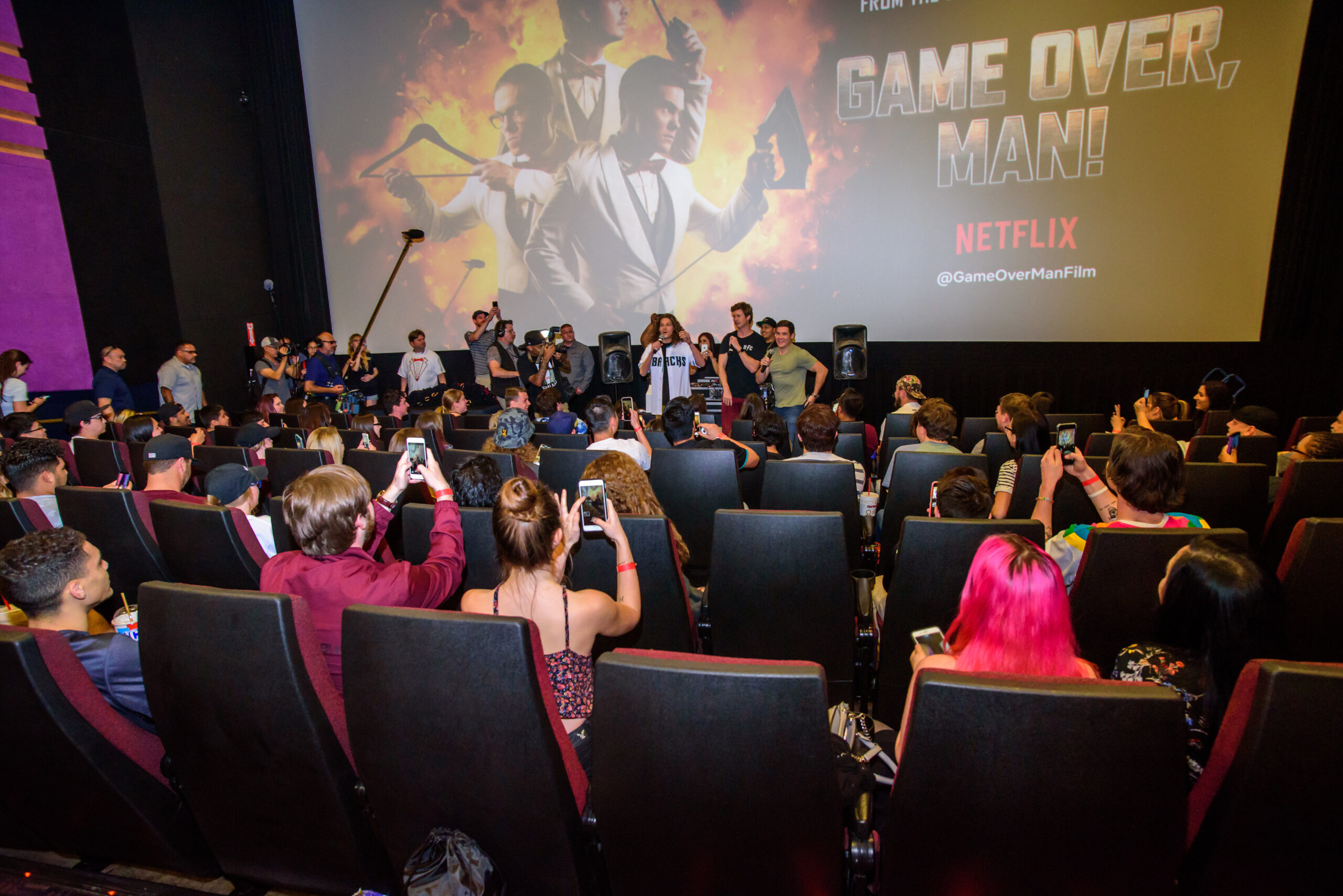 movie screening for game over man mobile tour