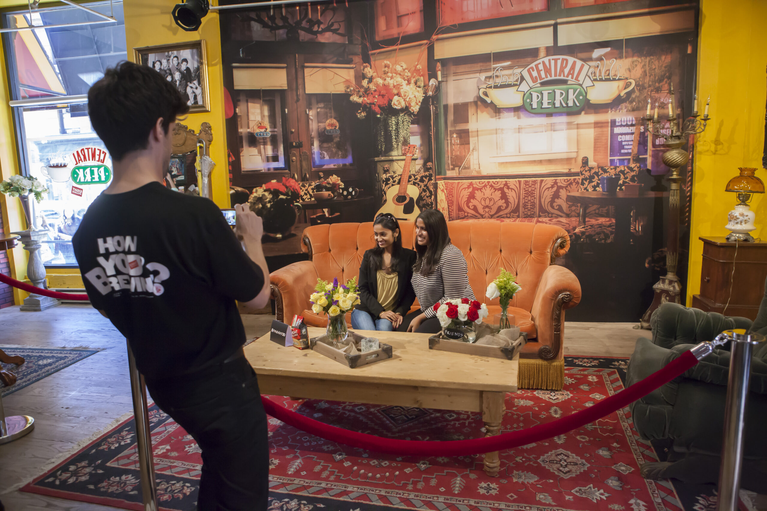 event design for friends central perk pop up
