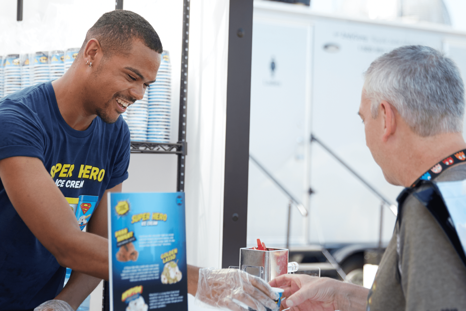customer service at nestle dreyers convention booths