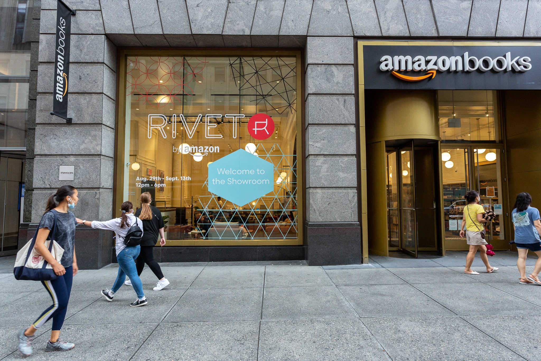 outdoor signage at amazon bookstore experiential events